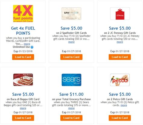 Kroger Gift Card Deals - kroger 4x fuel points on travel gift cards and more miles to memories