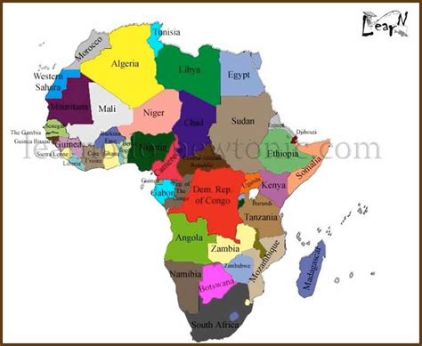 africa map easy learn the map of africa easily by this