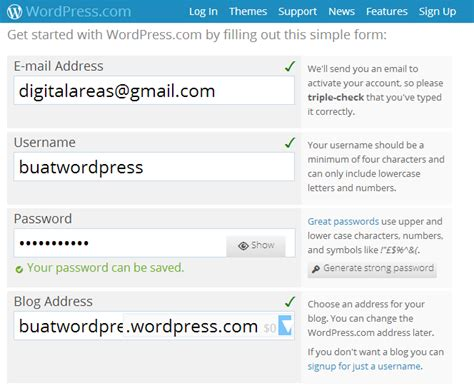 membuat blog di wordpress com cara membuat blog di wordpress rouens