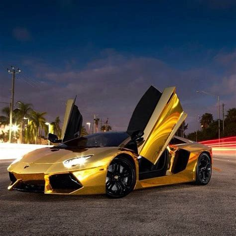golden fast cars doors up on the gold aventador go fast cars