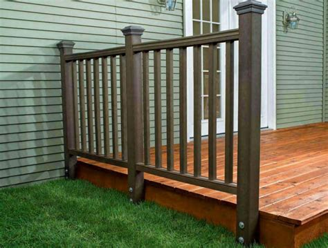 banisters and handrails installation how to install a composite railing home improvement and repair solution