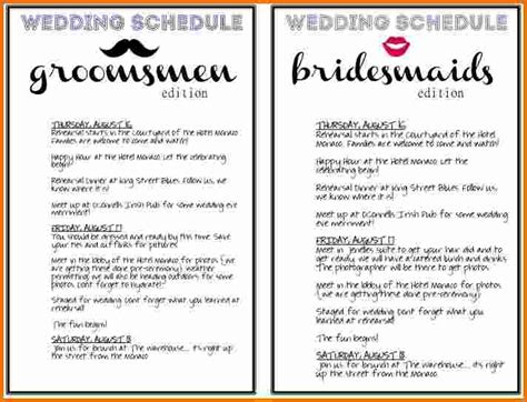 wedding day of itinerary template 7 day template calendar template 2016