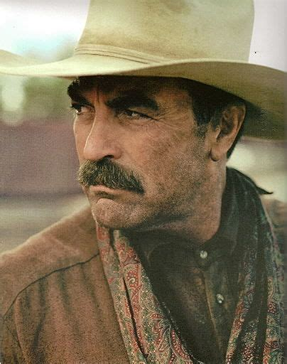 western actor with mustache tom selleck favorite cowboys pinterest toms down