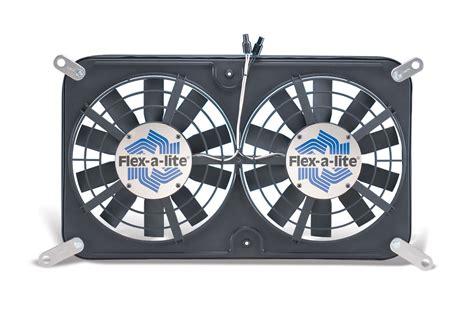 dual electric fan controller flex a lite automotive direct fit lo profile s blade dual