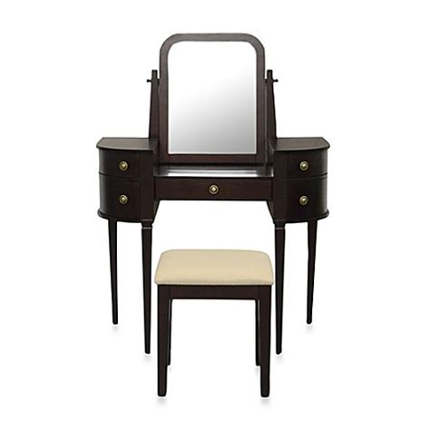 makeup vanity bed bath and beyond lamont home chelsea vanity set in espresso bed bath beyond