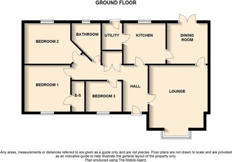 3 bedroom bungalow floor plan 3 bedroom bungalow for sale in maes trefyn bala gwynedd