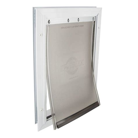 petsafe doors petsafe 8 25 in x 12 25 in medium freedom aluminum pet door hpa11 11599 the home depot