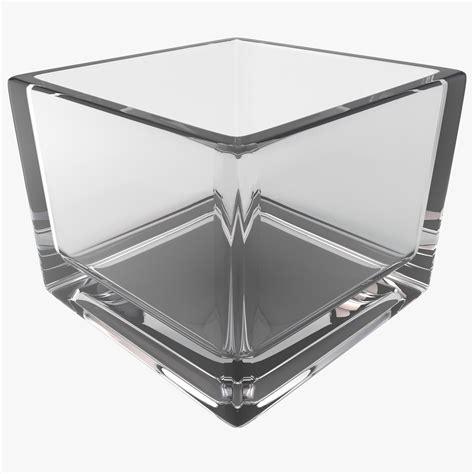 Square 3d 3d square glass vase model