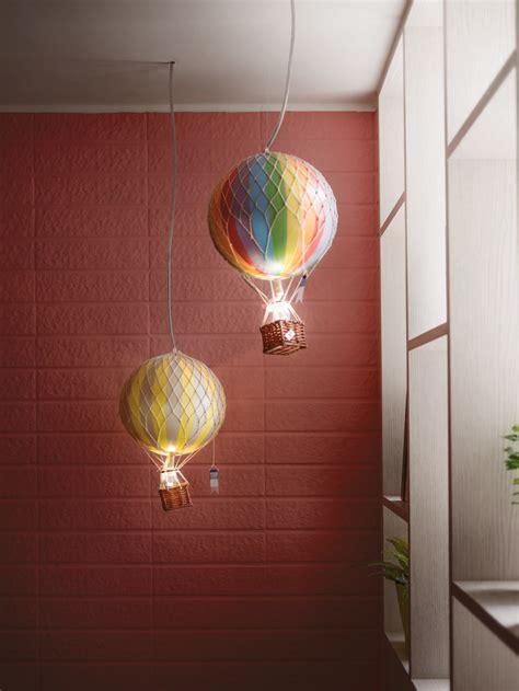 Small Loft hot air balloon lights interior design ideas