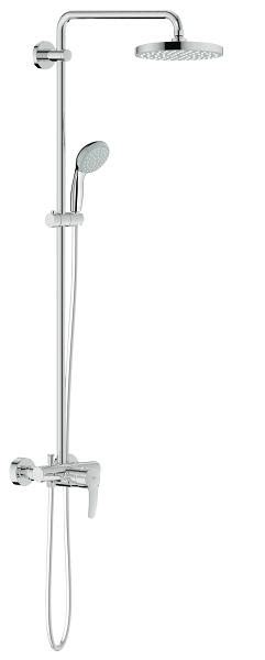 Grohe Shower Set New Tempesta 200 With Shower 27389000 grohe new tempesta cosmopolitan 200 shower system with single lever mixer for wall mounting