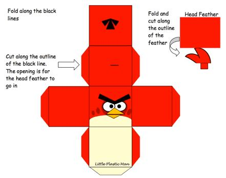Angry Birds Paper Crafts Gadgetsin by Cube Papercraft Angry Bird This Is My