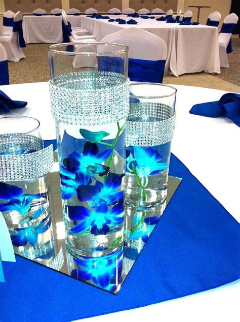 wedding centerpieces royal blue wedding dress decore ideas