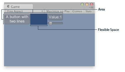 unity gui layout unity scripting api guilayout flexiblespace