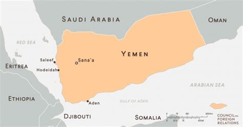printable map of yemen how the saudi blockade threatens famine in yemen council