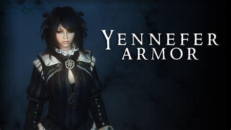 witcher 3 yennefer and triss armors at skyrim nexus mods skyrim yennefer armor youtube
