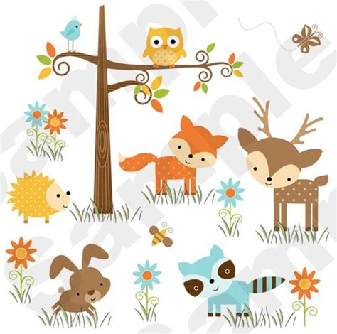 Woodland Animal Nursery Decor Woodland Nursery Decal Decor Animal Wall Mural Stickers Baby Shower Forest Friends
