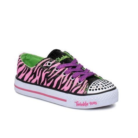 twinkle toes shoes skechers twinkle toes neon pink black tiger stripe