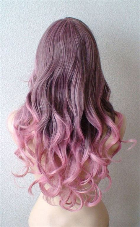 dark black brown to pastel ombre hair color trends 2015 brown pink ombre wig pastel pink wig light brown