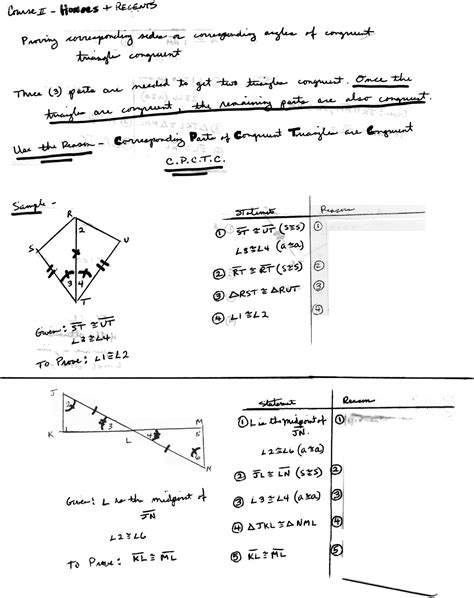 Cpctc Proofs Worksheet With Answers by Cpctc
