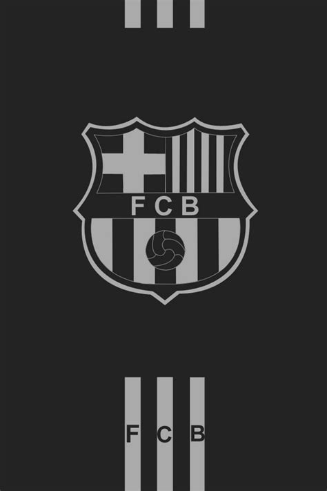 barcelona hd iphone wallpaper fc barcelona logo black and white