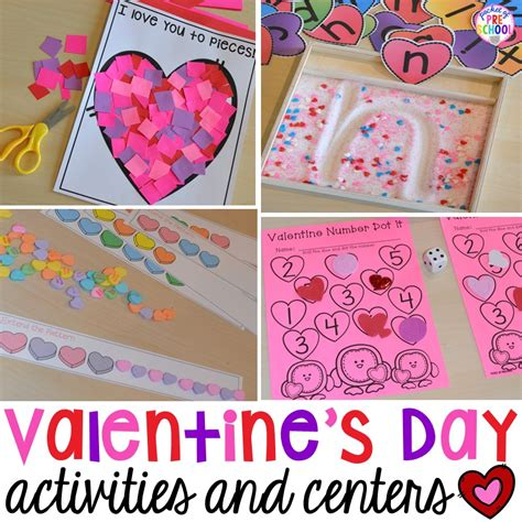 valentines day bj s day themed centers and activities pocket of