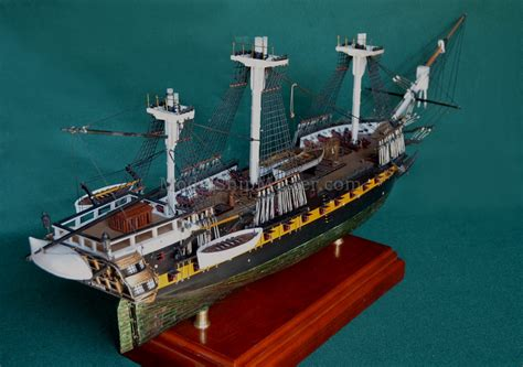 Bookcase Display by Tall Ship Uss United States Model