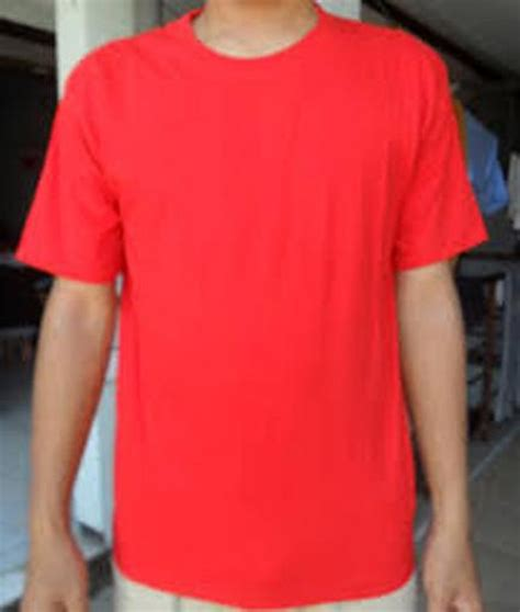 Baju Kaos Perempuan Ukuran M Warna Merah jual kaos baju polos warna merah m di lapak gombong store gombong clothing