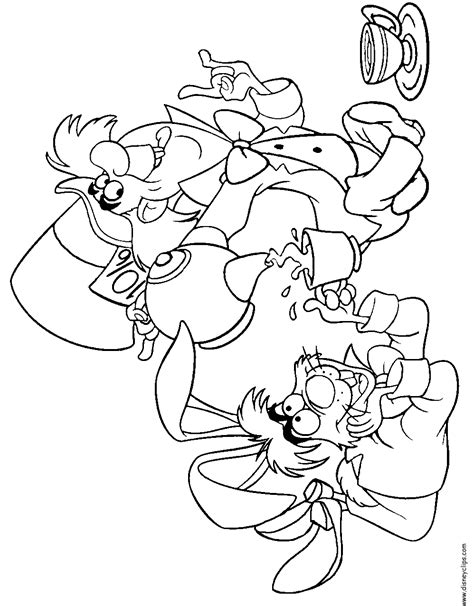 free mad hatter coloring pages