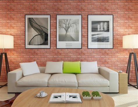 sexy home decor self adhesive wallpaper hot selling brick pattern