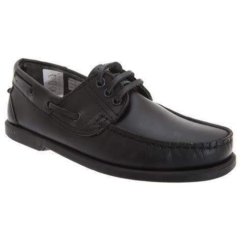 mens leather slip on sneakers dek mens leather casual lace up slip on moccasin boat