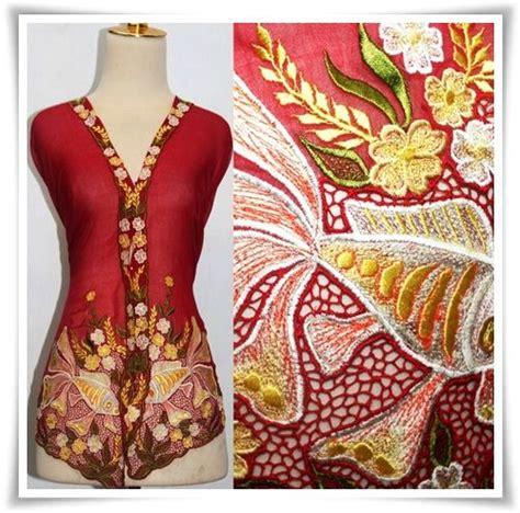 Rina Blouse Blouse Kebaya Kondangan 4 kebaya nyonya blouse with gold fish design