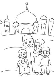 ramadan colouring pages in the playroom
