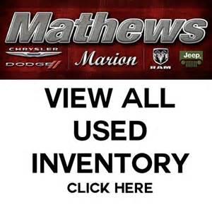 used vehicle specials mathews dodge chrysler jeep ram