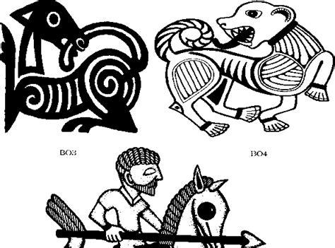 borre style viking art tattoo magic