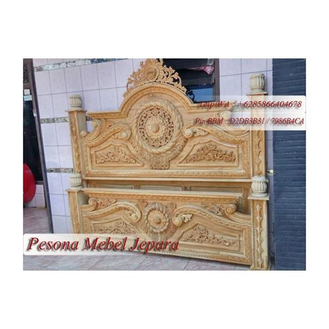 Dipan Ukir Kayu Jati ranjang atau dipan gong ukir kayu jati pesona mebel jepara