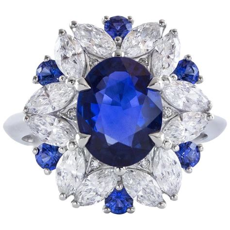 Blue Sapphire Similiar To Royal grs certified 2 45 carat royal blue sapphire gold ring for sale at 1stdibs