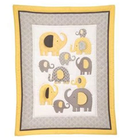 Yellow And Grey Elephant Crib Bedding by Gray Yellow Baby Boy Neutral Elephant 4 Crib Bedding