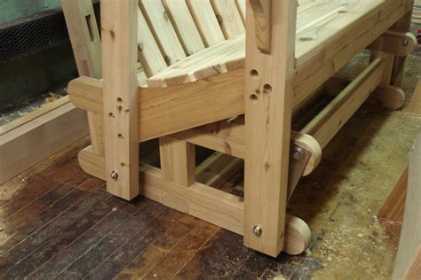 wooden rocking bench diy glider bench design wooden pdf woodworking plans