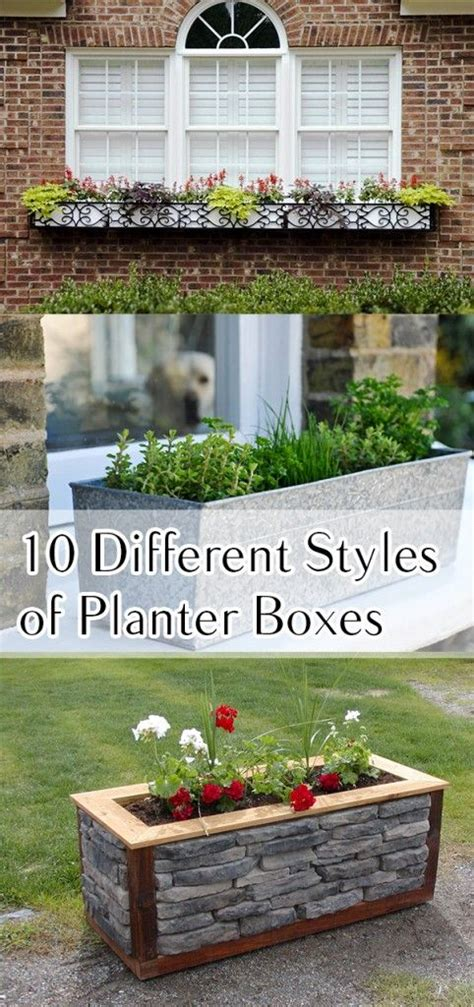 Creative Planter Box Styles Projects And Tutorials Garden Planter Boxes Ideas