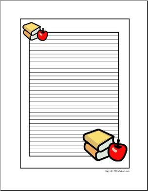 school themed writing paper writing paper with a school theme ideas