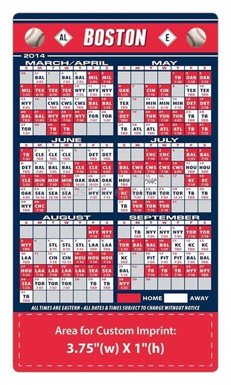 Boston Sox Printable Schedule