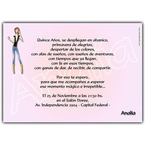 frases para invitaciones de quinceanera quinceanera invitation card tarjeta invitaci 243 n para 15