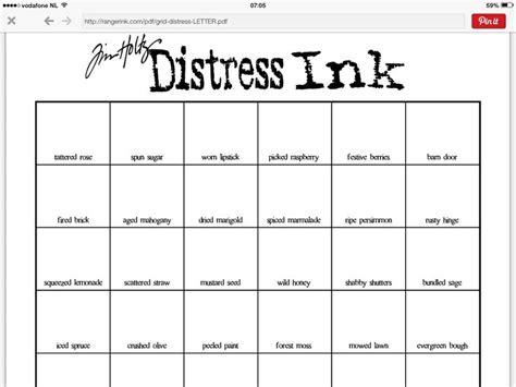 distress ink color chart 37 best tim holtz ranger images on tutorials