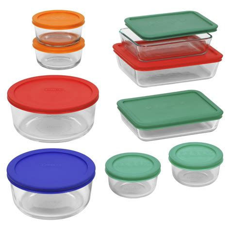 pyrex glass food storage containers upc 071160068490 pyrex 18 storage set food