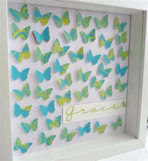 Handmade Paper Butterfly - handmade paper butterflies keepsake in blue green