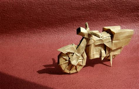 Origami Motorcycle - i could harley wait to show you these origami vehicles