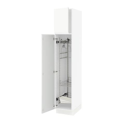 sektion high cabinet w pull out organizers white