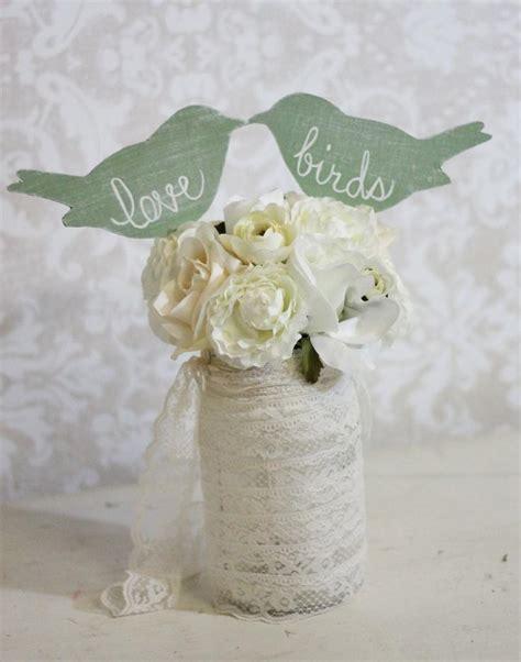 wedding cake topper love birds shabby chic wedding decor item p106031 2061708 weddbook