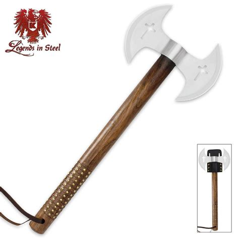 Kapak Dual Blade Tomahawk Stainless Steel legends in steel blade crusader tomahawk budk knives swords at the lowest prices