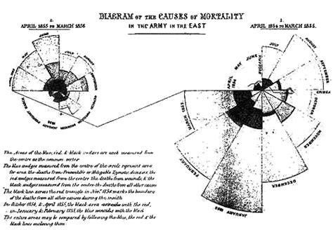 diagram of area florence nightingale s polar area diagram